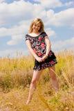 Vrij het jonge meisje dromen Royalty-vrije Stock Foto's