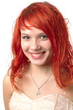 Vrij het jonge meisje glimlachen Stock Afbeeldingen