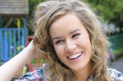 Vrij het jonge vrouw glimlachen Stock Afbeelding