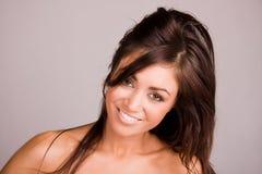 Vrij het jonge vrouw glimlachen stock foto