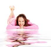 Vrij het jonge vrouw ontspannen Stock Foto's