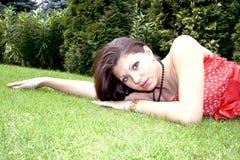 Vrij jonge dame Royalty-vrije Stock Foto's