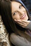 Vrij jonge glimlachende vrouw royalty-vrije stock foto