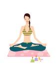 Vrij jonge vrouw die yoga doet Stock Fotografie
