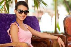 Vrij jonge vrouw in openlucht Stock Foto