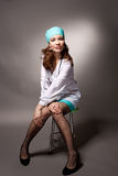 Vrij jonge vrouw in wit Royalty-vrije Stock Foto