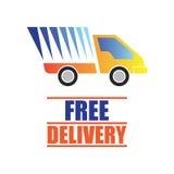 Vrij leveringsconcept, snel, de vectorillustratie van de voedsellevering Royalty-vrije Illustratie