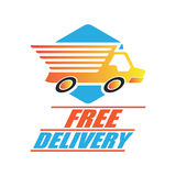 Vrij leveringsconcept, snel, de vectorillustratie van de voedsellevering Vector Illustratie