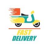 Vrij leveringsconcept, snel, de vectorillustratie van de voedsellevering Stock Illustratie