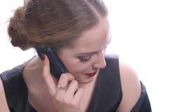 Vrij met celtelefoon Royalty-vrije Stock Foto