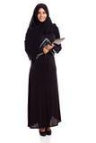Moslim vrouwentablet stock fotografie
