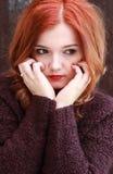 Vrij rood geleid meisje Stock Foto