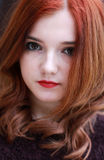 Vrij rood geleid meisje Royalty-vrije Stock Foto