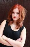 Vrij rood geleid meisje Royalty-vrije Stock Afbeeldingen