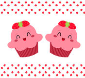 Vrij roze cupcakes Royalty-vrije Stock Afbeelding