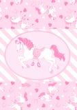 Vrij roze paarden. Royalty-vrije Stock Foto