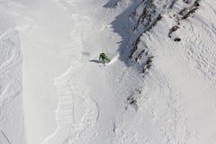 Vrij-skiër Stock Foto's