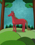 Vrij slagpaard die zich op een gebied bevinden Royalty-vrije Stock Afbeeldingen