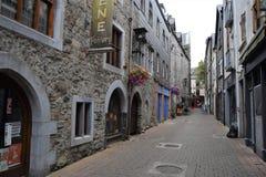Vrij smalle straat van Oude stad stock foto