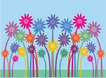 Vrij symmetrische bloemen stock illustratie