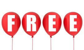 Vrij teken op rode ballons Stock Foto