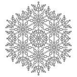 Vrij Vector Ronde Sneeuwvlok Stock Afbeeldingen