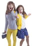 Vrij verraste twee teengirls royalty-vrije stock foto