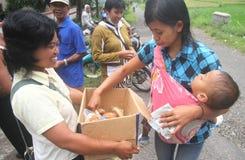 Vrij voedsel voor vluchtelingen stock afbeelding