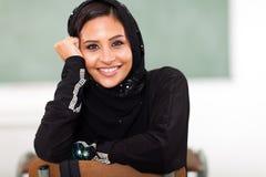 Arabische student stock fotografie