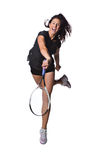 Vrij vrouwelijke tennisspeler Royalty-vrije Stock Afbeeldingen