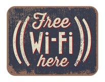 Vrij WiFi hier Stock Foto's