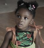 Vrij Zwart Meisje Stock Afbeelding