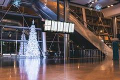 Vrijdag, 22 December, 2017, Dublin Ireland - binnen van Terminal 2 van Dublin Airport Stock Foto's