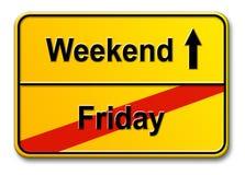 Vrijdag-weekend Royalty-vrije Stock Foto's