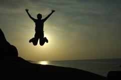 Vrije Daling of Sprong voor Vreugde? Ko Samui, Thailand Stock Foto's