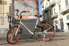 Vrije drijvende Mobike-fiets die merk delen royalty-vrije stock fotografie