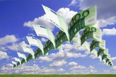 Vrije (euro) vlucht stock afbeeldingen
