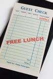 Vrije Lunch royalty-vrije stock foto