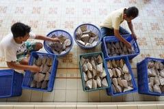 Vrije rijstomslag voor Kauman-moskeeworshipers stock fotografie