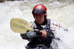 Vrije slag Kayaker Royalty-vrije Stock Fotografie