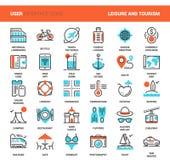 Vrije tijd en toerisme stock illustratie