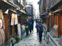 Vrije tijd in Kyoto Stock Afbeelding