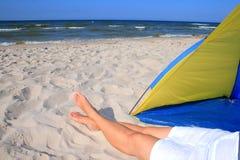 Vrije tijd op het strand stock fotografie