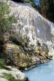 vrije toegankelijke pool van de hete lentes van Bagni San Filippo royalty-vrije stock foto's
