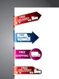 Vrije verschepend etiket/stickers Royalty-vrije Stock Foto's