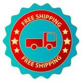 Vrije Vrachtwagen Verschepende Sticker stock illustratie