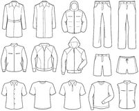 Vrijetijdskleding en de sportkleding van Menâs de Stock Afbeelding