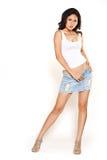 Vrijetijdskledings Aziatische vrouw stock afbeeldingen