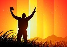 Vrijheid en Spiritualiteit stock illustratie