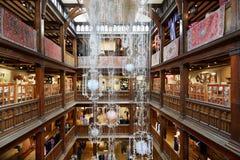 Vrijheid, het binnenland van het luxewarenhuis in Londen stock afbeelding